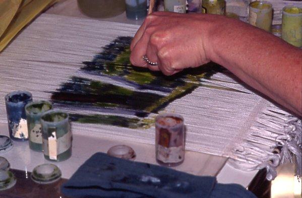 painting warp threads